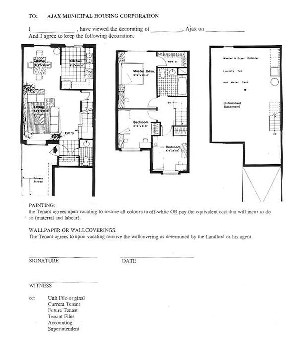 Ajax municipal housing corporation amhc monarch mews Monarch homes floor plans